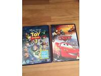 Cars and toy story 3 dvds