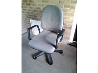 Office chair - swivel, height and back angle adjustable