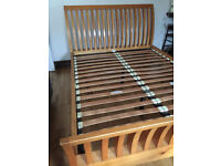 Solid pine king size bed frame, very good condition, no mattress