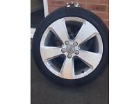 Genuine 17 audi sport alloys with new michelin tyres!! Fits VW