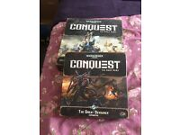 Warhammer 40.000 Conquest & Great devourer expansion.