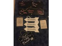 9 Assorted wedding signs