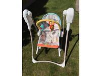 Fisher Price 3 in 1 Swing n' Rocker baby toddler seat