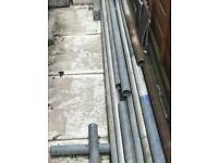 Scaffolding poles and planks