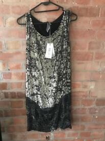All Saints Metal NEW Sequin Dress