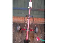 Lightweight collapsible golf trolley