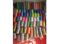 Wholesale Job Lot Ribbons almost 800 full rolls (satin-710rolls / glitter - 90 rolls