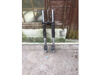 Triumph tiger spare wheels and tyres ,swing arm and shocks with clupiers