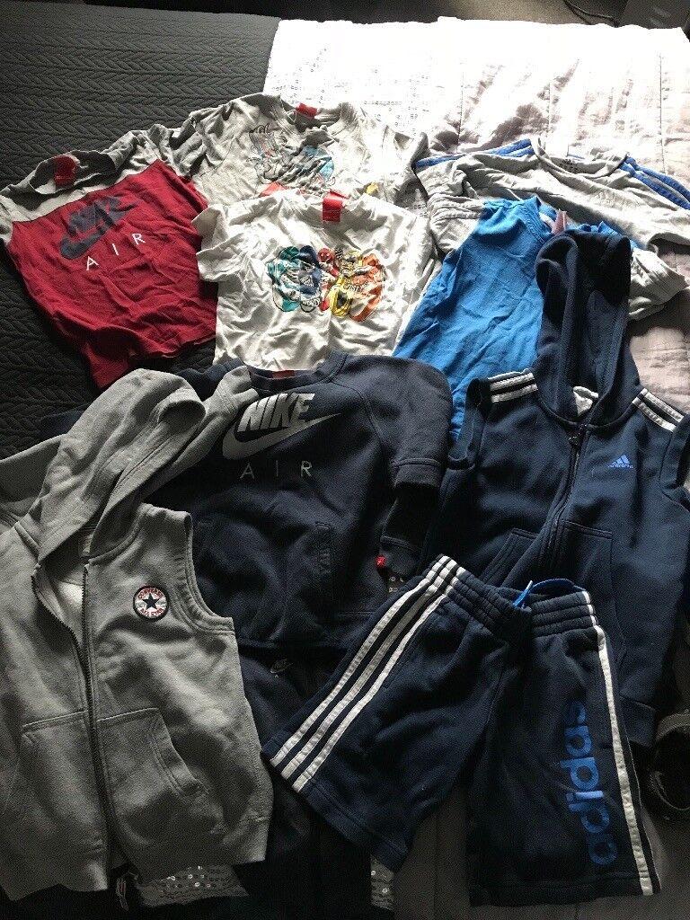 Nike Adidas converse boys bundle 5/6 yrs