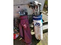 Golf clubs and bags job lot