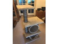 Cat Climb, snooze and scartcher - Great&Small Tunnel Climb & Snooze Beige. MINT