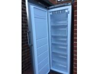 FROST FREE SILVER HOTPOINT UPWRIGHT FREEZER IN GOOD WOORKING CONDITION.