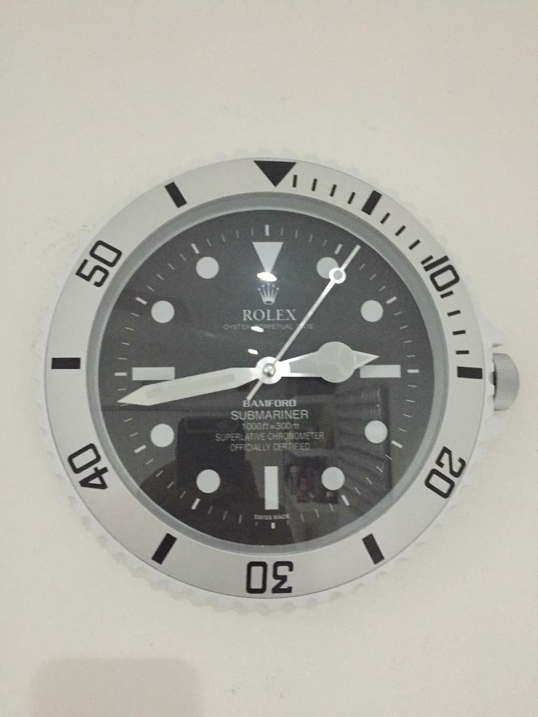 Rolex bamford submariner wall clock in moseley west midlands rolex bamford submariner wall clock amipublicfo Gallery