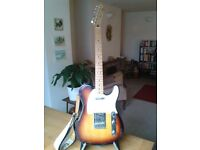 Telecaster Fender Guitar & Marshall amplifier. Both in very good condition. Guitar stand, no case.