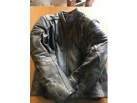 Hein Gericke Leather motorcycle jacket size 44 TFL Cool System