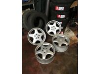 "17"" Amg Alloys wide rears good condition can also supply tyres for a extra cost"