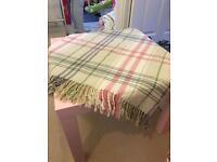 Tartan blanket/throw