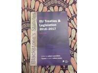 EU Treaties and Legislation 2016-2017