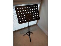H&S Heavy Duty Orchestral Conductor Sheet Music Stand Holder Tripod Base Foldable
