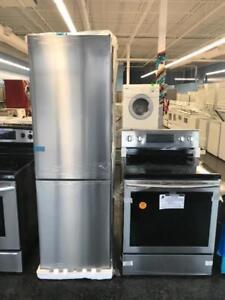 STAINLESS STEEL APARTMENT SIZE FRIDGE & STOVE FOR YOUR RENTAL PROPERTY OR HOME
