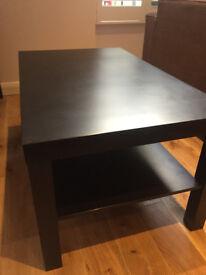Ikea coffee table (LACK) dark brown wood x2