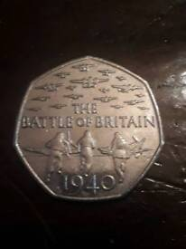 Battle of Britain 50 pence Collectors coin