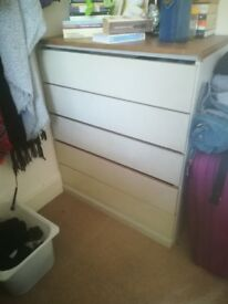 Plain and simple Chest of Drawers, you can use re purpose, paint, or whatever, yours for the taking!