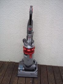 DYSON DC14 MET RED UPRIGHT BAGLESS VACUUM, FULLY CLEANED, WITH TOOLS AND NEW MOTOR
