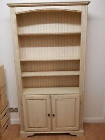 Fantastic ivory coloured bookcase/cabinet