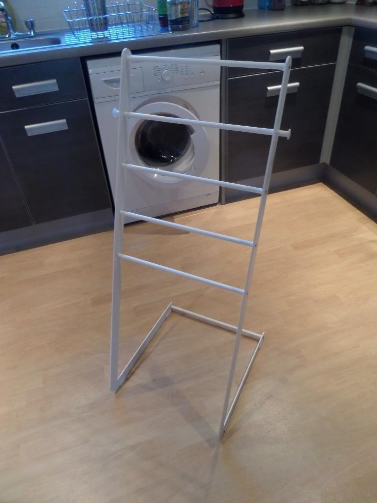 Ikea free standing towel stand enudden in derby for Ikea towel stand