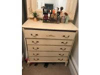 Shabby Chic/Vintage chest of drawers