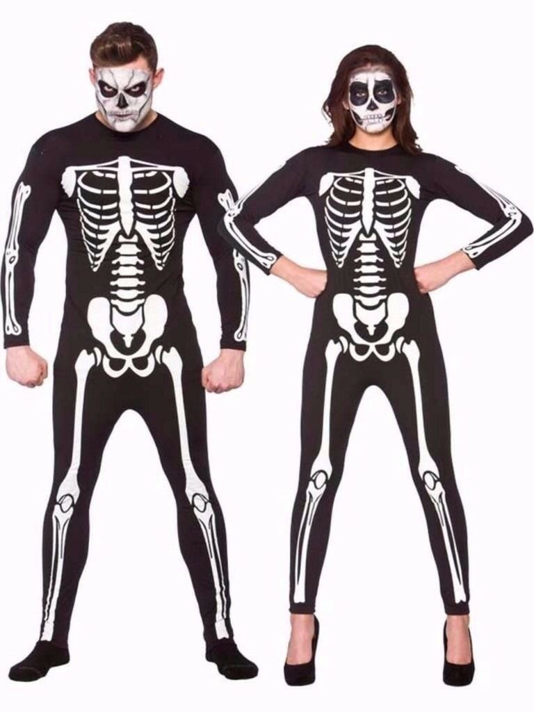 SKELETON/DAY OF THE DEAD FANCY DRESS OUTFIT SIZE L GREAT FOR HALLOWEEN