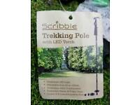 Scribble trekking pole with LED