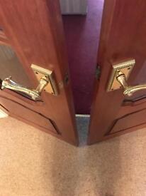 Solid Oak Doors X 2