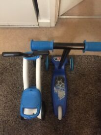 £20 for trike, scooter and balance bike for toddlers