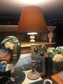 Beautiful Large Rustic / Vintage Look Lamp