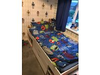 Kids white cabin bed