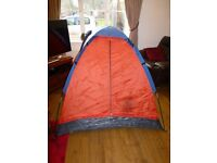 Good used condition Global Trek 2 person tent with integrated ground sheet