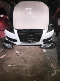 Audi A5 front end bumper bonnet lights - white - breaking
