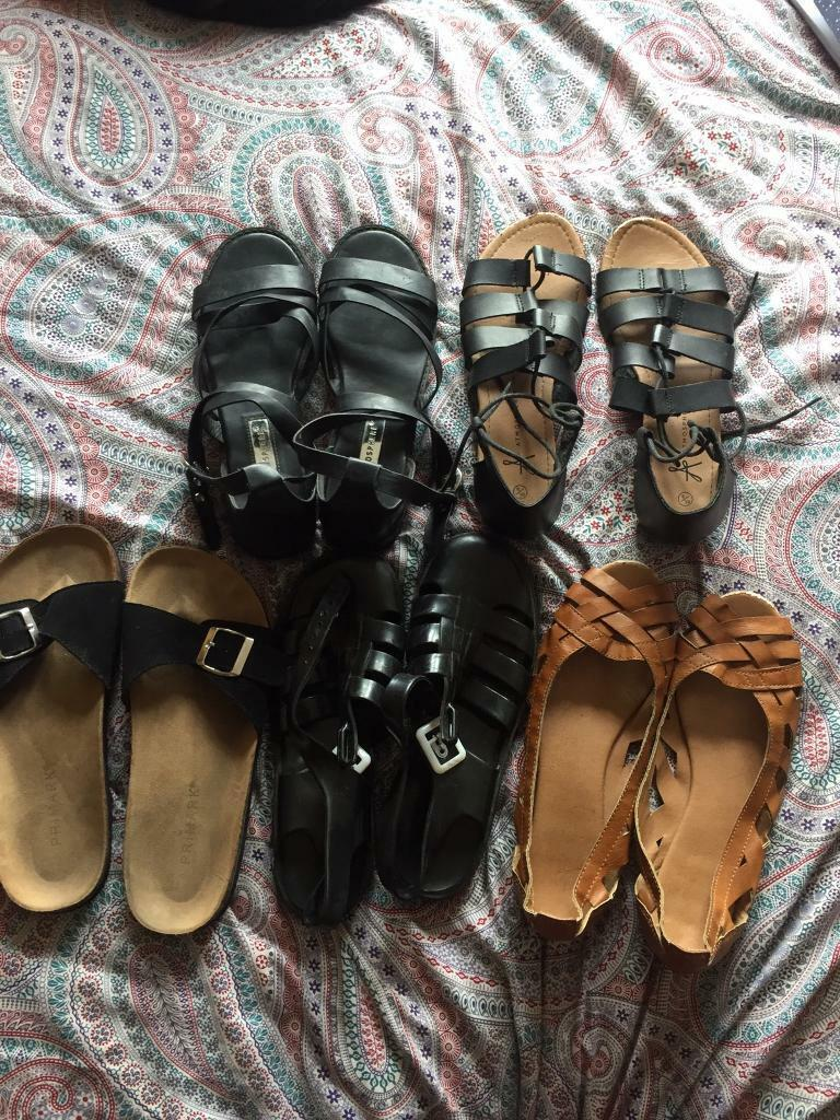 39c8ba25d5cd Collection of summer sandals  shoes. Size 5