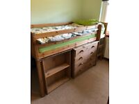 Cabin Bed with Drawers and Desk