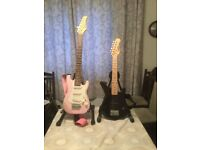 2 childs electric guitars