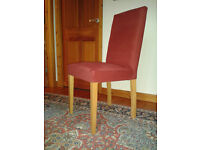 4 Habitat Altea Upholstered Dining Chairs 2 Red 2 Blue Excellent Condition