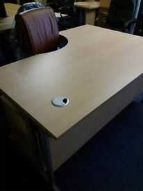 Brand new office desks in beech