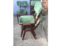 Stackable retro chairs very solid projection bar man cave job lot