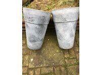 Plastic large plant pots