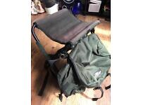 Fishing tackle seat backpack
