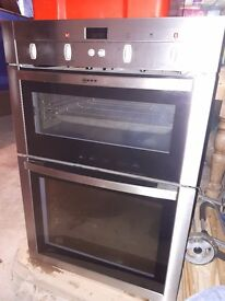 NEFF Built-in Double Oven and Grill -Stainless Steel - Excellent Condition