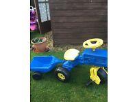 Ride on children's tractor