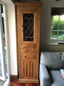 Tall glasses and drinks cabinet and bookcase (sold as a pair or separately)